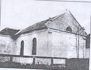 Az egykori imaház (archív felvétel)